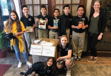 Local students connect with Honduran students